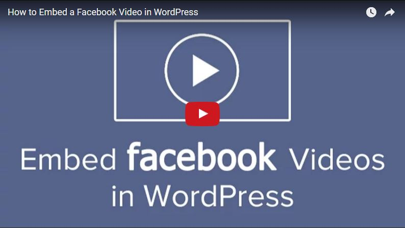 Adding a Facebook Video to WordPress