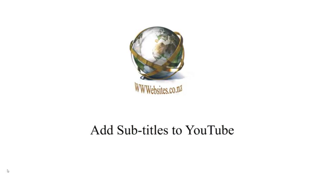 Adding Sub-titles to YouTube
