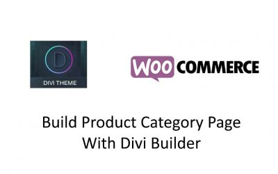 Divi – Woocommerce Product Category Archive Pages