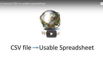 How to Convert CSV to usable spreadsheet